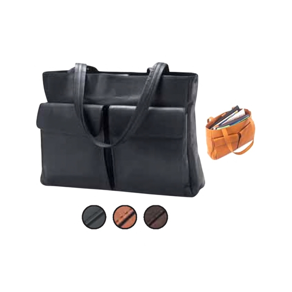Two Pocket Tote With Two Front Pockets With Hidden Magnetic Straps Photo