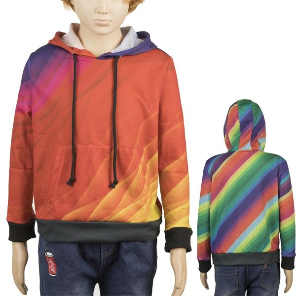 Kids Full Color Hoodie w/ Pockets Sublimated Hoodies