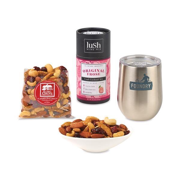 Corkcicle®Sip Rose & Snack Gift Set
