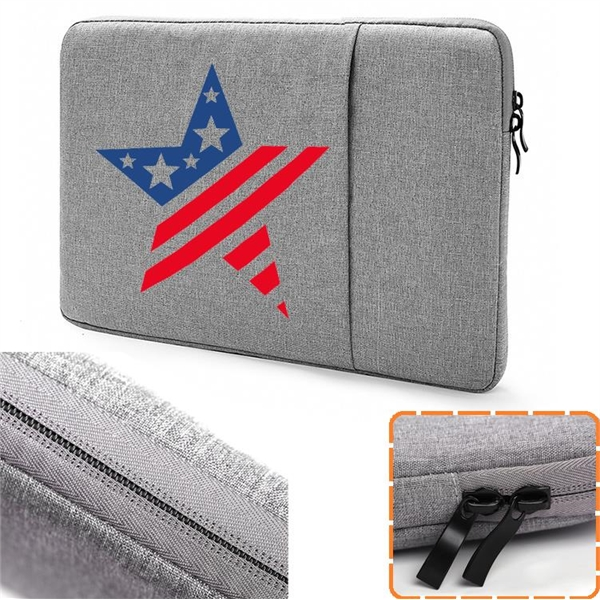 Oxford Laptop Sleeve w/ Front Accessory Pocket Oxford Sleeve