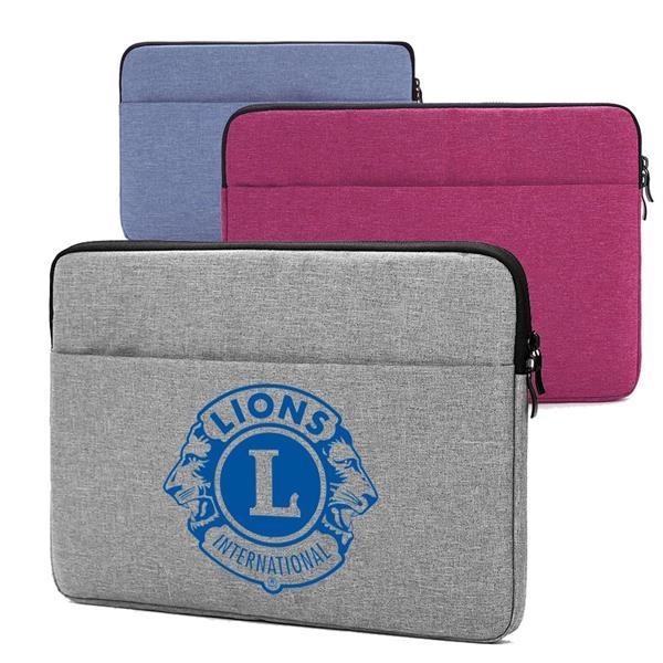 Oxford Laptop Sleeve w/Front Accessory Pocket & Plush Inside