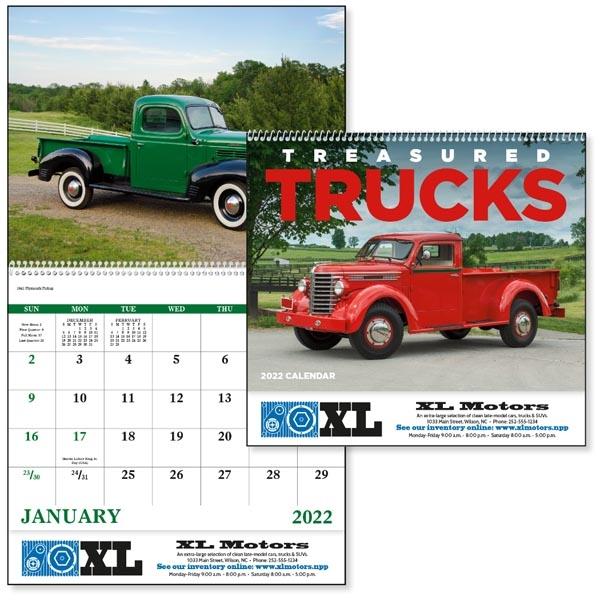 Spiral Treasured Trucks Vehicle 2022 Appointment Calendar