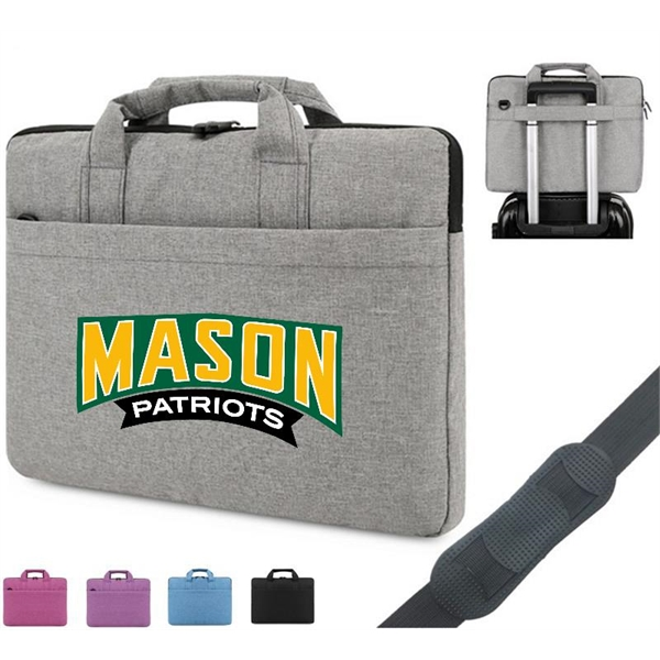 Polyester Laptop Sleeve w/ Carry Handle & Shoulder Strap
