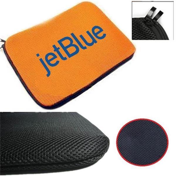 Grid Fabric Laptop Sleeve w/ Double Zipper & Soft Interior