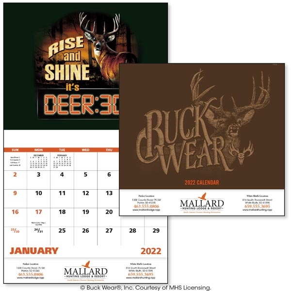 Buck Wear Stapled 2022 Calendar