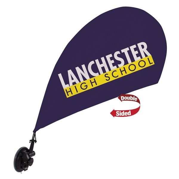 Mini Teardrop Sail Sign w/Suction Cup Base Kit Double-Sided