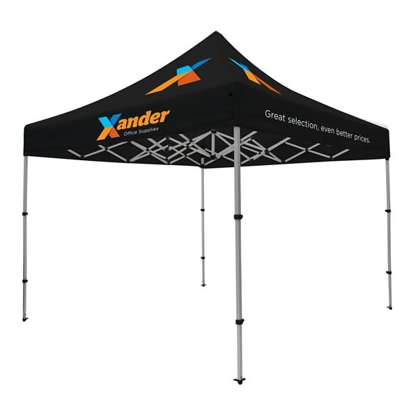 10' Compact Tent Kit (Full-Color Imprint, 5 Locations)