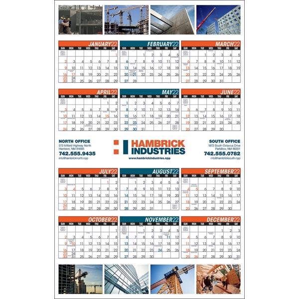Full Color Span-a-Year 2022 Calendar