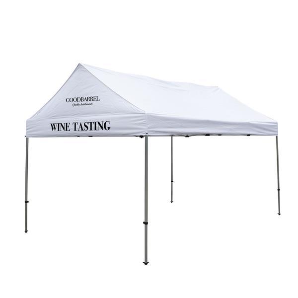 10' x 15' Gable Tent Kit (Full-Color Imprint, 2 Locations)