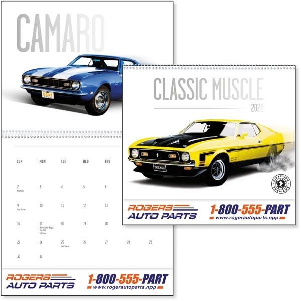 Classic Muscle Cars 2022 Calendar
