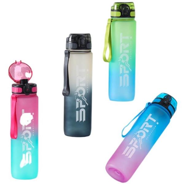 Sport 35 oz Gradient Water Bottles with Handle Strap