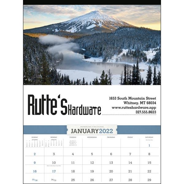American Splendor 2022 Calendar with Date Blocks