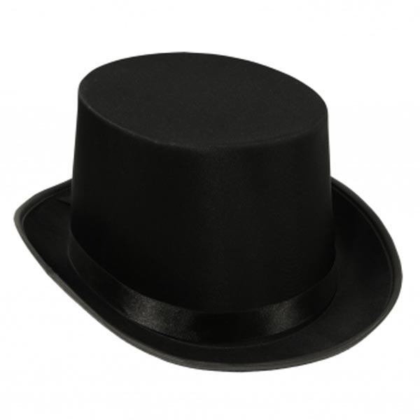 Satin sleek top hats