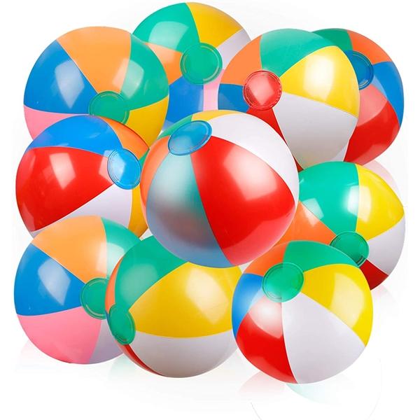 Inflatable PVC Rainbow Beach Ball