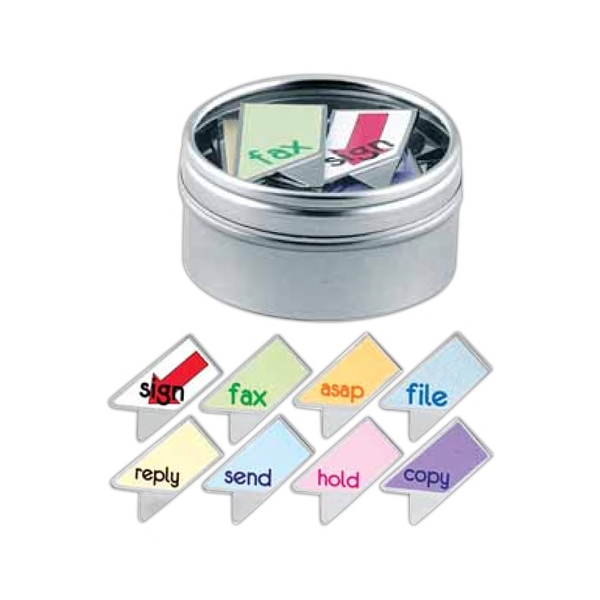 Keepaklip Paper Clips. 8 Office Designs In Metal Tin With Clear Window Lid Photo