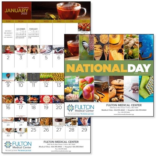 Stapled National Day 2022 Calendar
