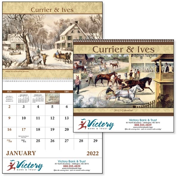 Spiral Currier & Ives Americana 2022 Appointment Calendar