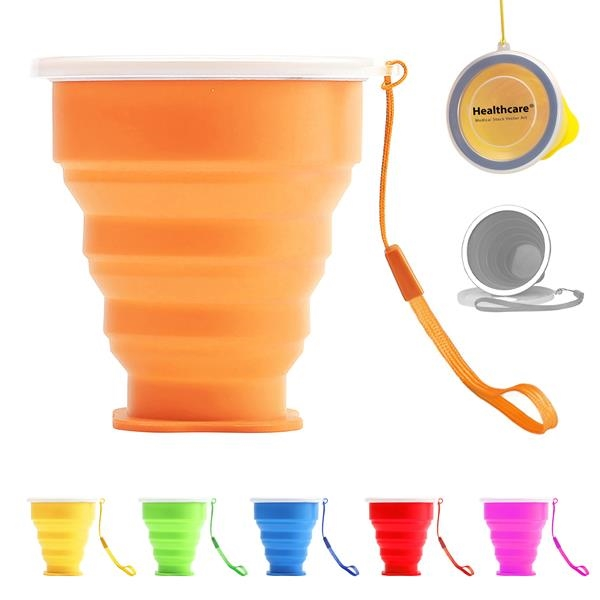 Silica Gel Collapsible Camping Cup