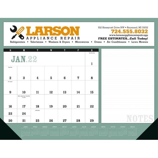 Notes 2022 Desk Calendar Pad with Vinyl Corners