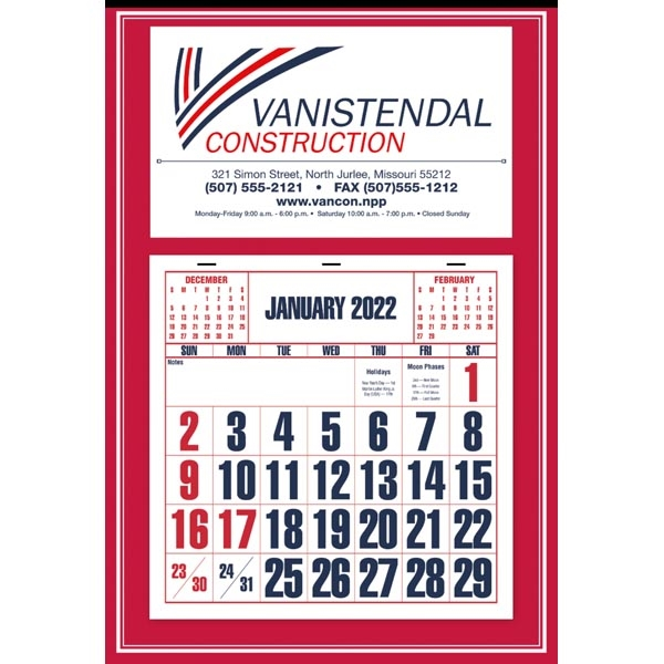 Red Apron Calendar
