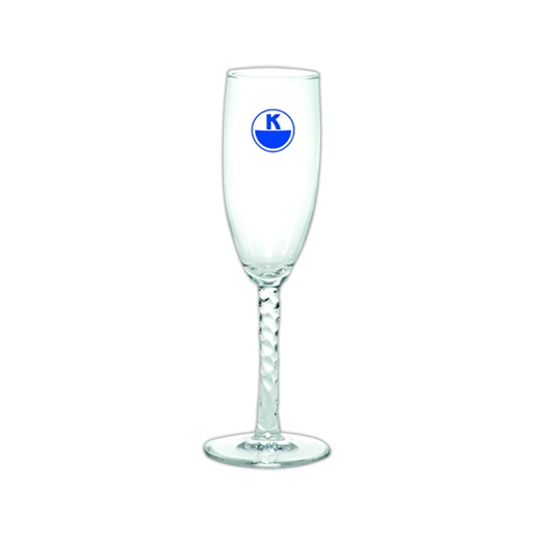 Angelique - 6 Oz. Angelique Clear Fluted Champagne Glass With A Twisted Stem Photo