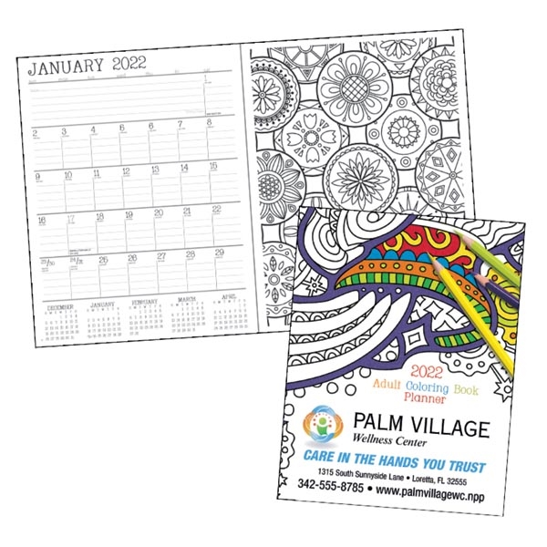 Adult Coloring Book 2022 Standard Planner