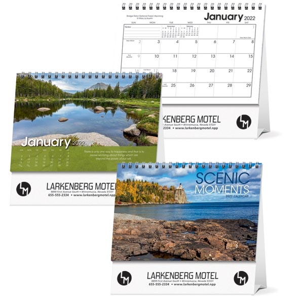 Scenic Moments Large Desk 2022 Calendar