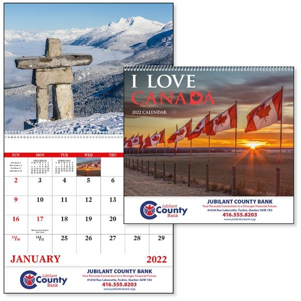 I Love Canada 2022 Calendar