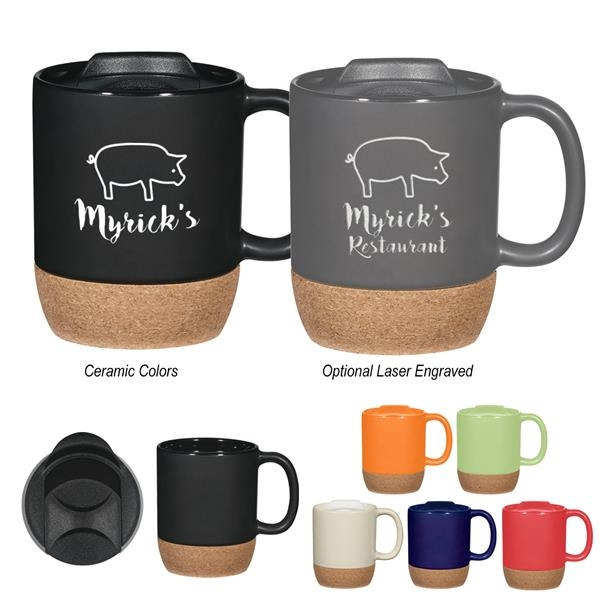 14 Oz. Cork Base Ceramic Mug