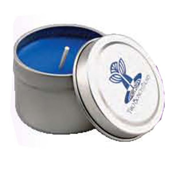 "Wax Candle In 2"" Diameter X 1 1/2"" Tin. 5-day Quickship Photo"