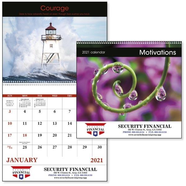 Spiral Motivations Inspirational 2022 Appointment Calendar