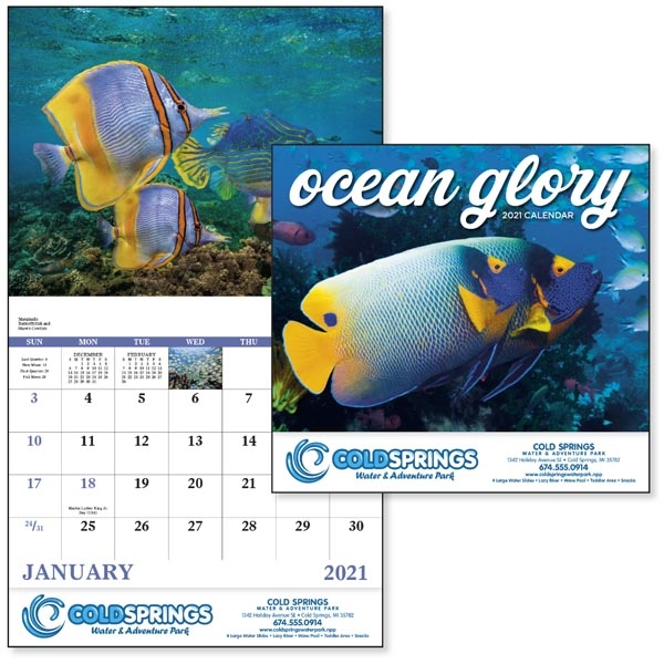 Stapled Ocean Glory Lifestyle 2022 Appointment Calendar