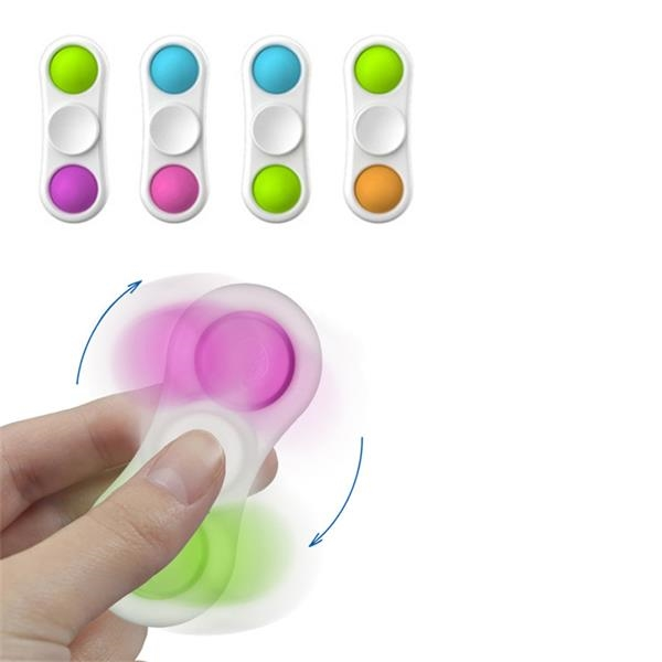 Silicone Rotatable Push Pop Fidget Bubble Toys