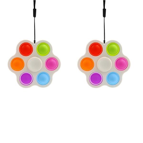 Silicone Six Bubbles Stress Relief Push Popper Fidget Toys