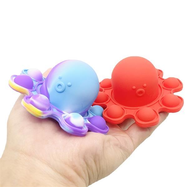 Silicone Reversible Octopus Fidget Bubble Sensory Keychain