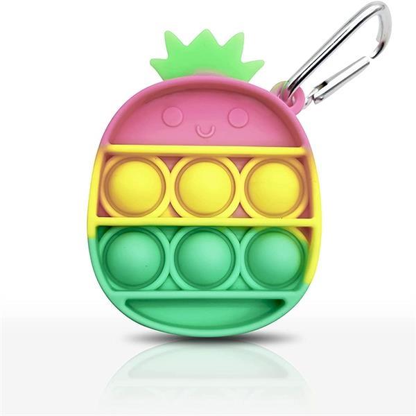 Silicone Pineapple Push Pop Fidget Bubble Keychain