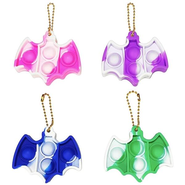 Silicone Bat Simple Dimple Push Fidget Popper toy