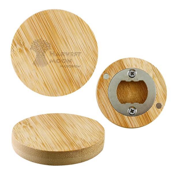 Bamboo Bottle Opener Magnet