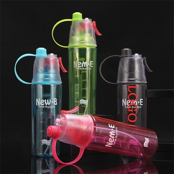Creative Spray Sports Plastic Water Bottle