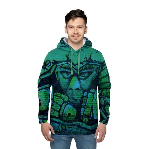 Men's Full Color Sublimated Long Sleeve Hooded Sweatshirt