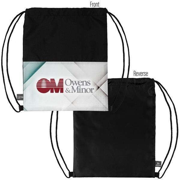 Dye Sublimation 300D Polyester Drawstring Backpack