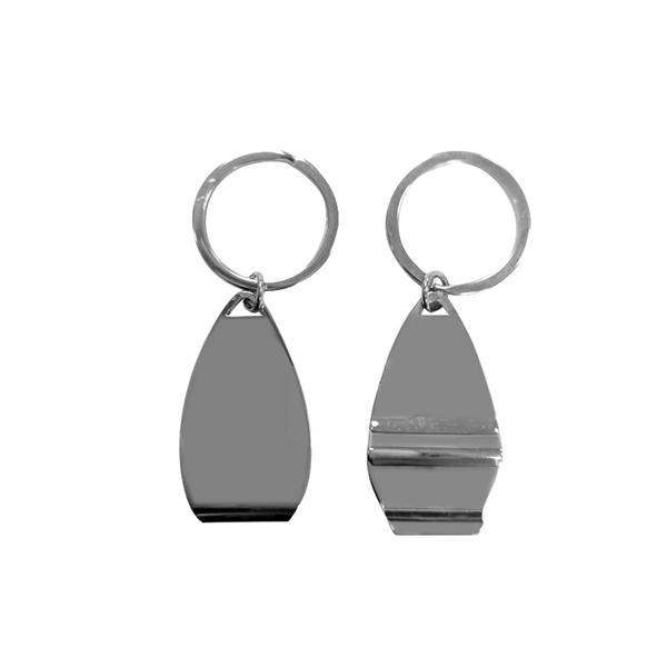 Surfboard-Shaped Metal Bottle Opener Keyring