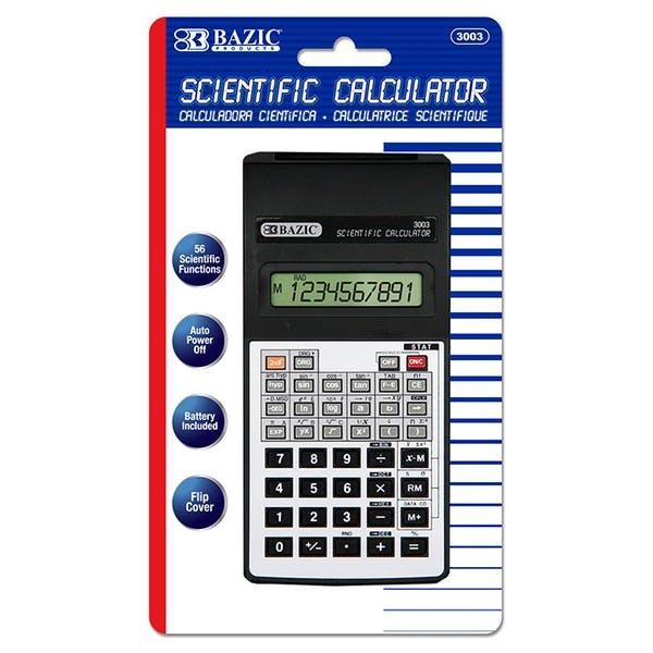 BAZIC 56 Function Scientific Calculator w Flip Cover