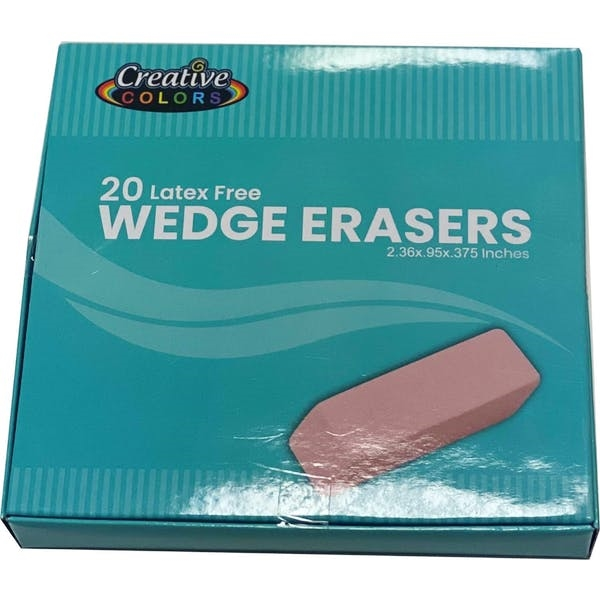 Pink Wedge Eraser 24 Count 20 Piece