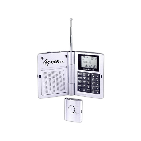 Radio Travel Alarm, Pocket Size With Fm Radio And 8-digit Calculator Photo