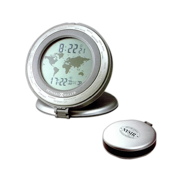 Round Alarm Clock With Display For Local Time And One Of 24 Worldwide Cities Photo