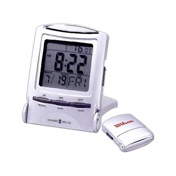 Distant Time Traveler - Folding Silver-tone Distant Time Traveler Alarm Clock With Lcd Display Photo