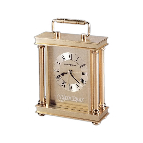 Audra - Carriage Alarm Clock Features A Decorative Handle, Turned Brass Button Feet Photo