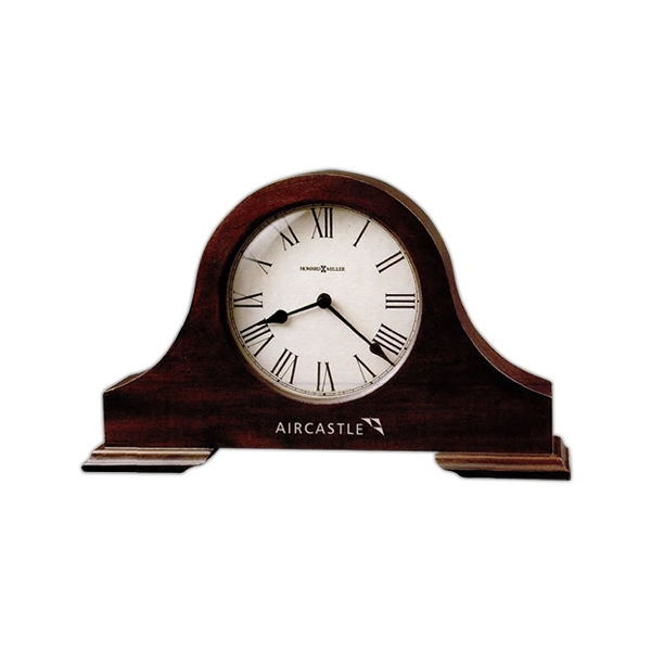 Humphrey - Tambour Style Mantel Clock Features Roman Numerals And Spade Hands Photo
