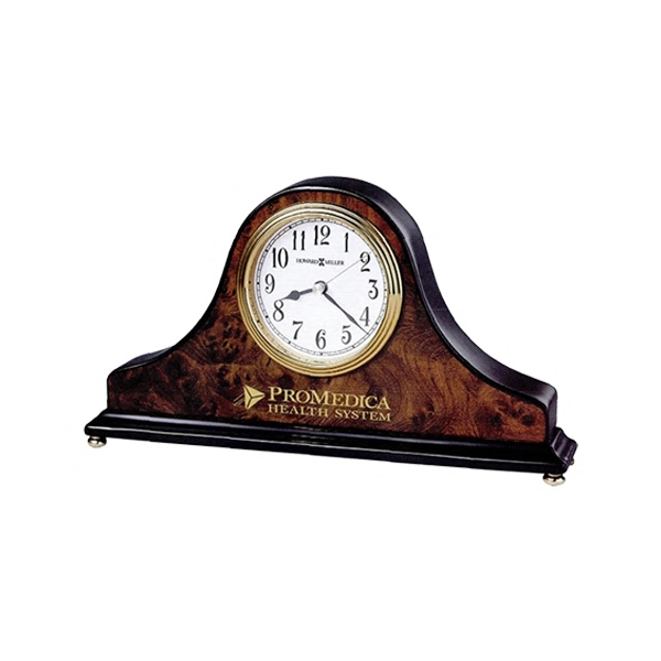 Baxter - A Tambour Style Table Clock Offers Arabic Numerals Photo